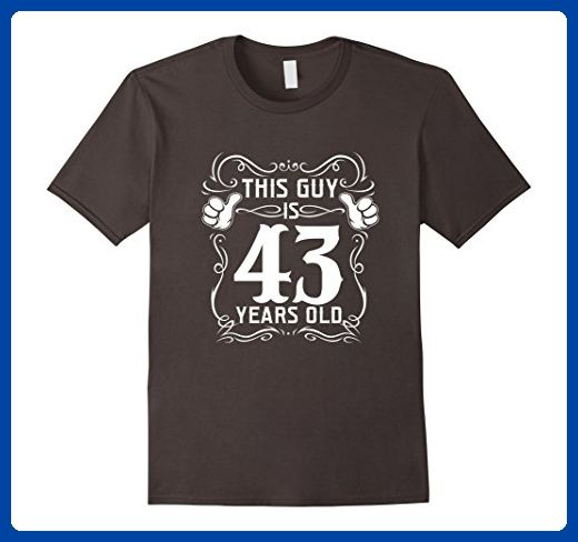 Mens Cool T Shirt For 43 Years Old Best Birthday Gift Men