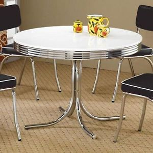Retro Old Fashioned Vintage Dinette Dining Table Room Kitchen Magnificent Retro Dining Room Tables Design Ideas