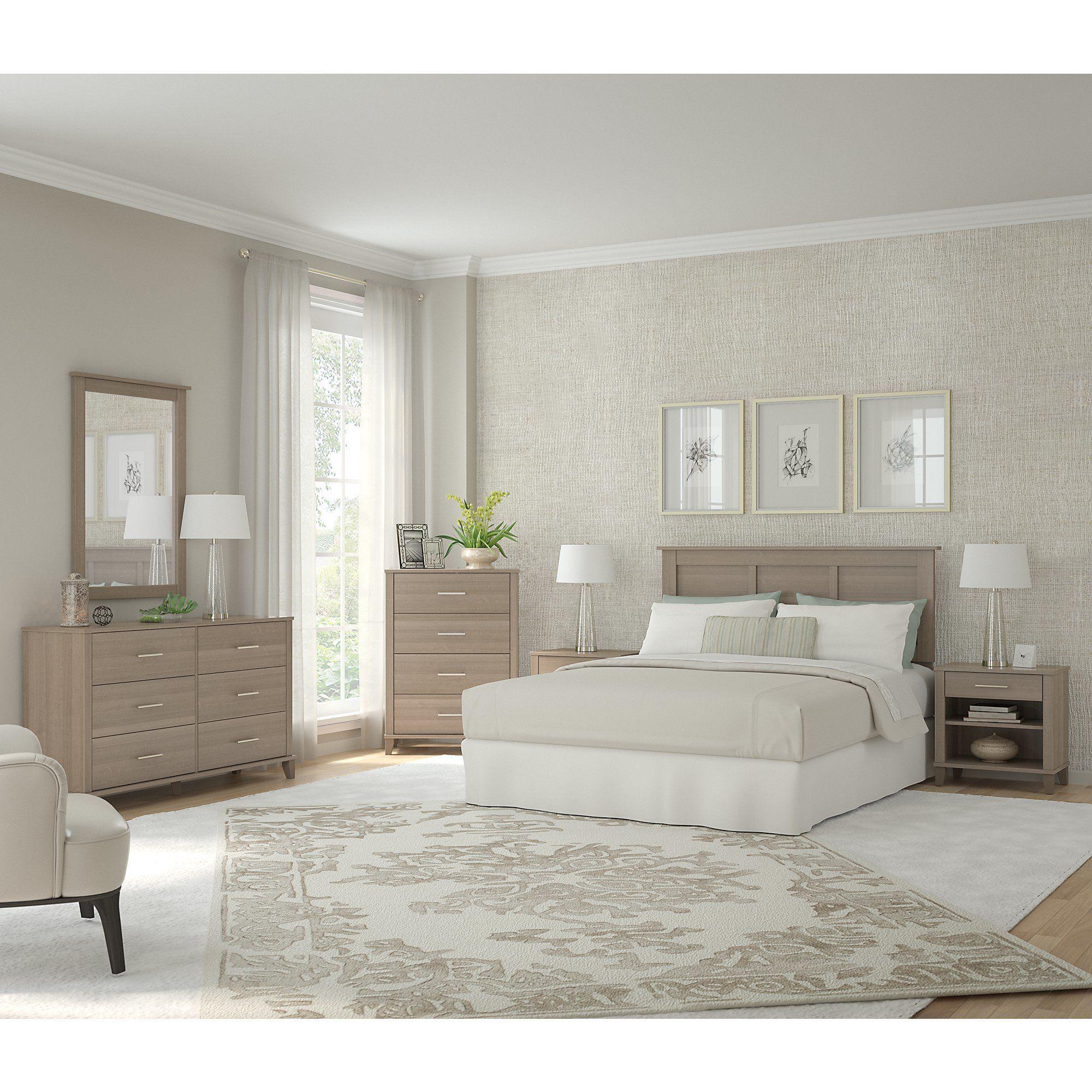 Best Oliver James Elizabeth Ash Grey 6 Piece Bedroom Set 400 x 300
