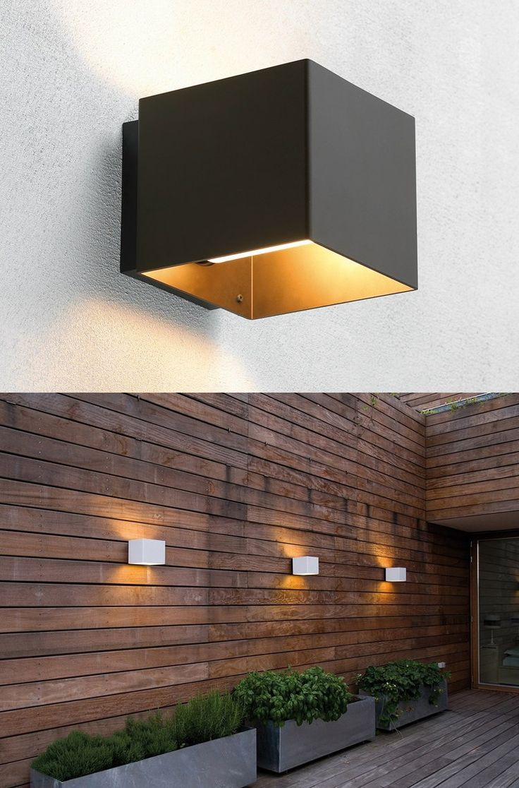 Exterior Wall: Outdoor Wall Lights To Go With Aluminium Windows