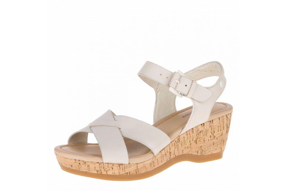 eec859deef9c Hush Puppies Eva Farris Off White Leather Women s Wedge Sandals ...