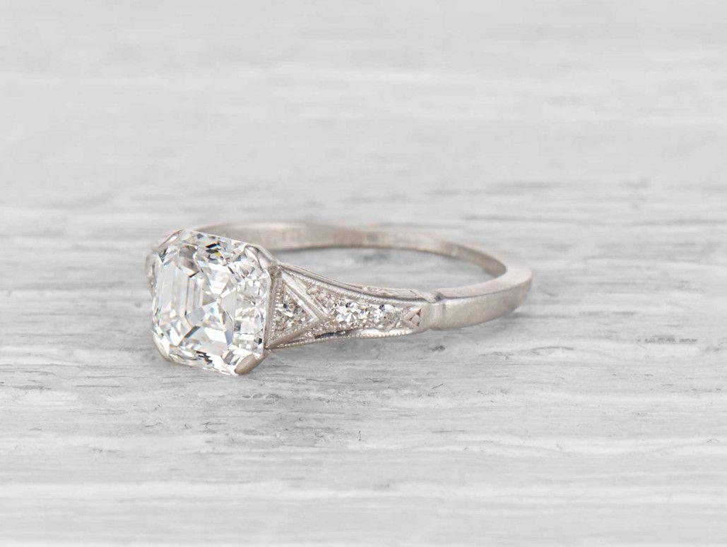 1.55 Carat Late Art Deco Engagement Ring