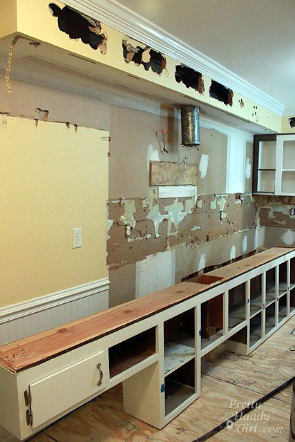 What Is A Kitchen Soffit And Can I Remove It: How To Remove A Soffit - Kitchen Renovation Update
