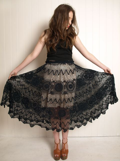 how to make a crochet lace skirt dress