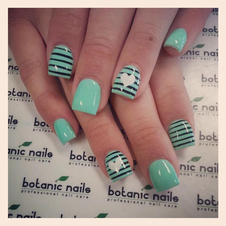 Another great nail idea | uñas bonitas | Pinterest | Menta, Diseños ...