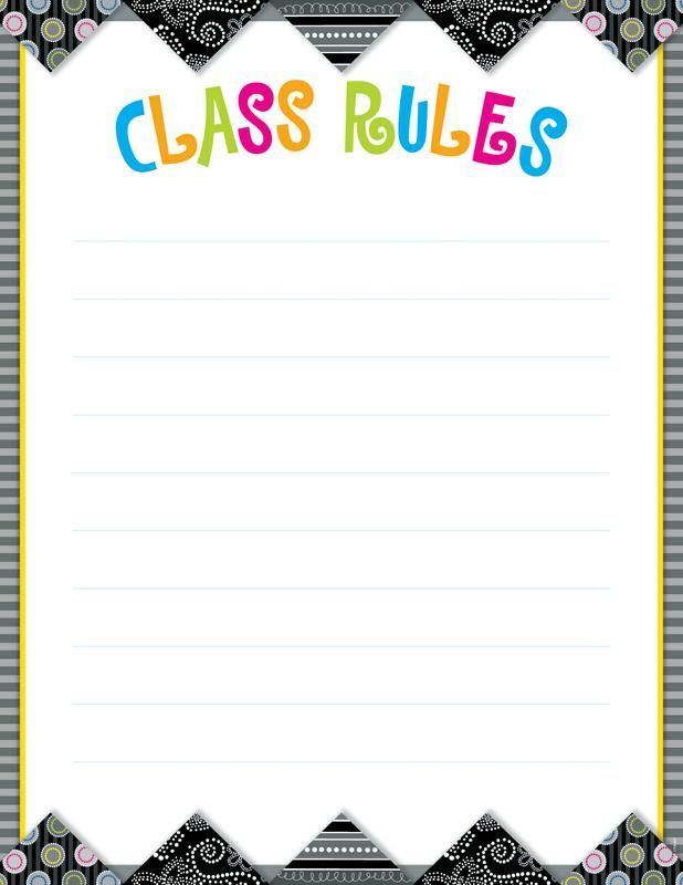house rules chart template - class rules poster template google search lesson