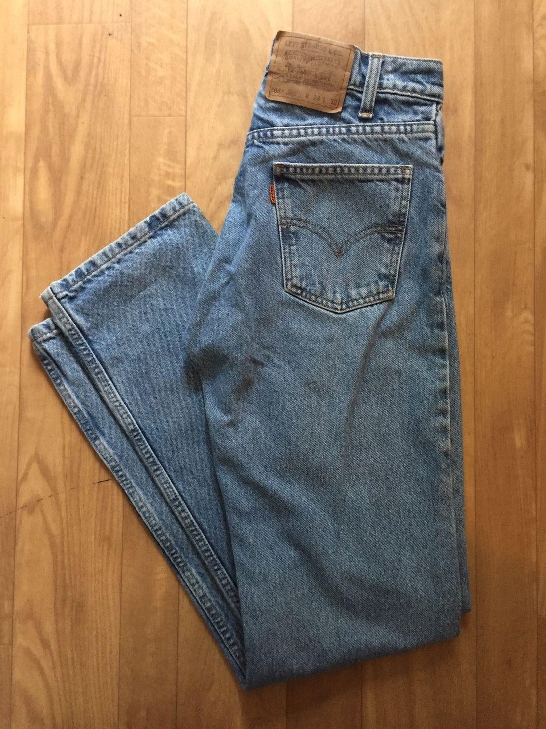 Levi S Rare Vintage Levi 505 Orange Tab Jeans Size 28 43 Vintage Levis 505 Vintage Levis Levis Vintage Clothing
