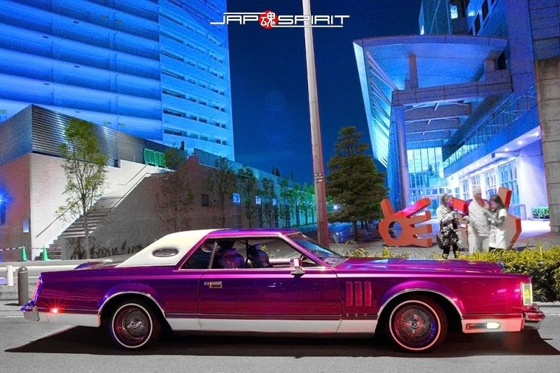 lincoln continental mark v purple color lowrider at minatomirai lincoln lows pinterest lowrider lincoln continental and ford lincoln mercury