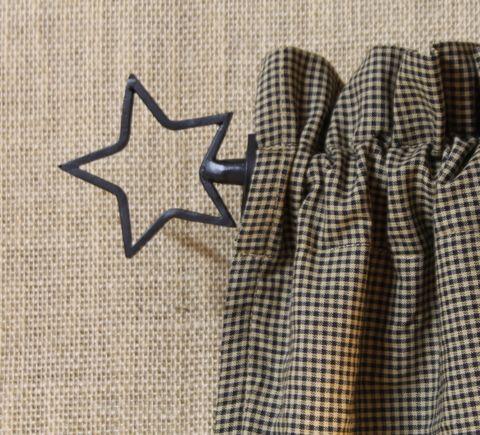 Black Star Curtain Rod Expandable Star Curtain Rod Expandable
