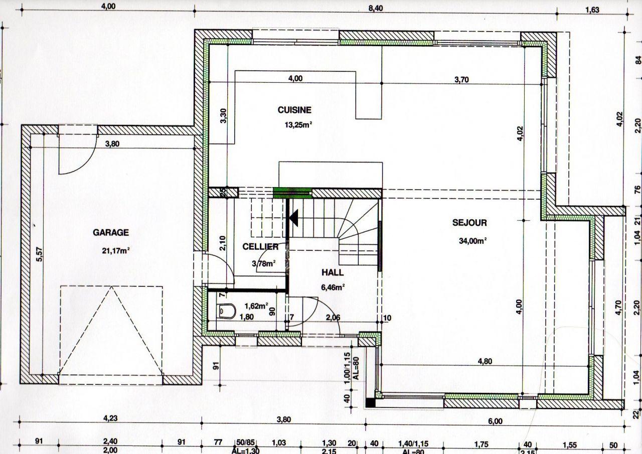Plan Porte À Galandage Épinglé par richard sur maison | plan maison, séjour cuisine