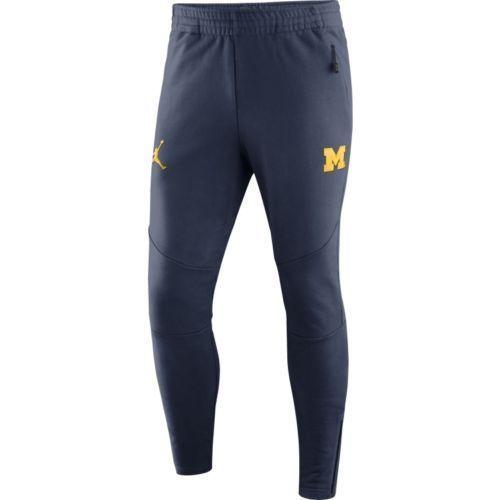 75817838c3c95b Michigan Wolverines Air Jordan 465 Icon Fleece Navy Blue Sideline Pants Large  L  Nike  Pants