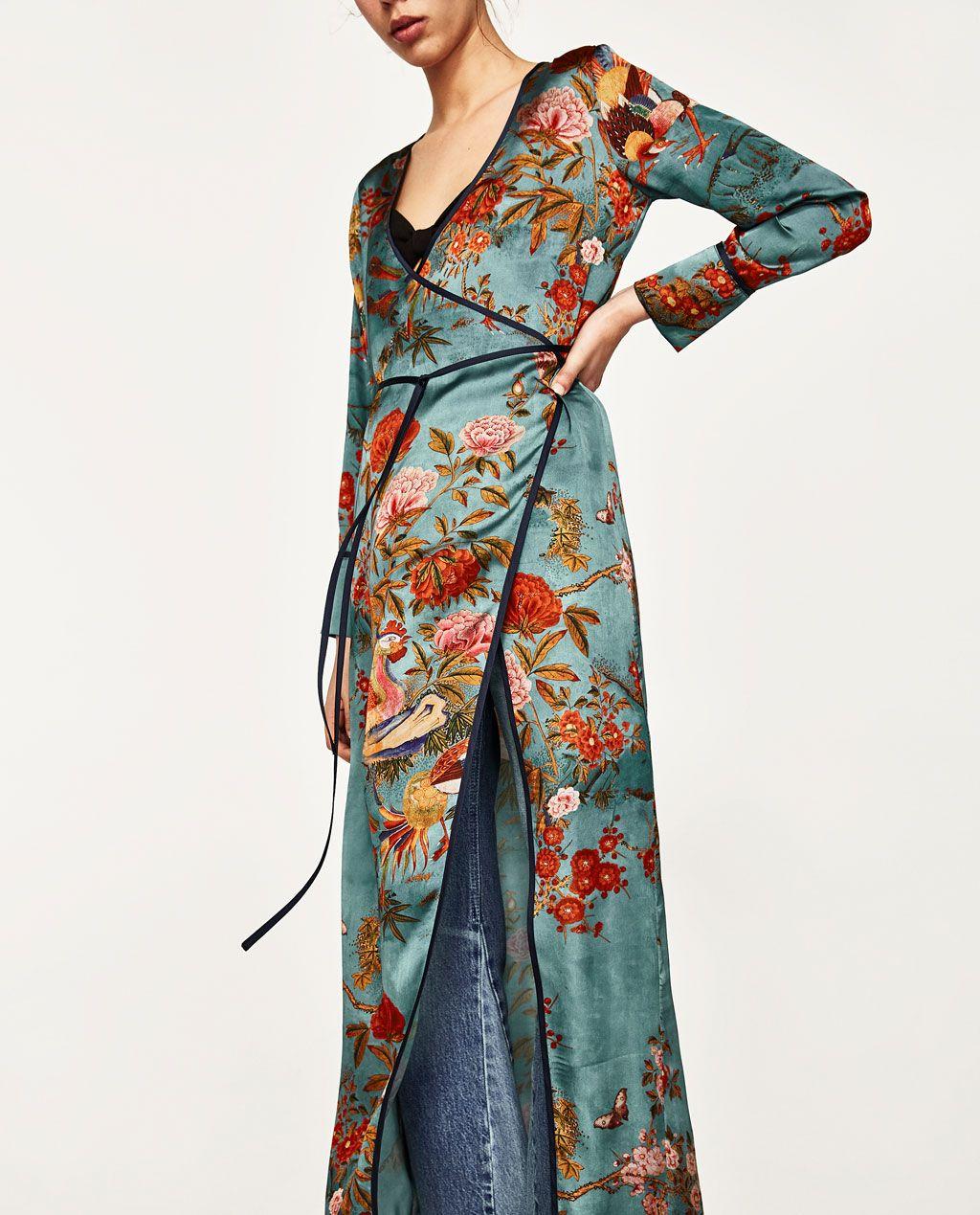 to exile Beaten truck Industrialize  PRINTED KIMONO DRESS-Coats-OUTERWEAR-WOMAN | ZARA United States | Vestiti, Abito  kimono, Abiti semplici