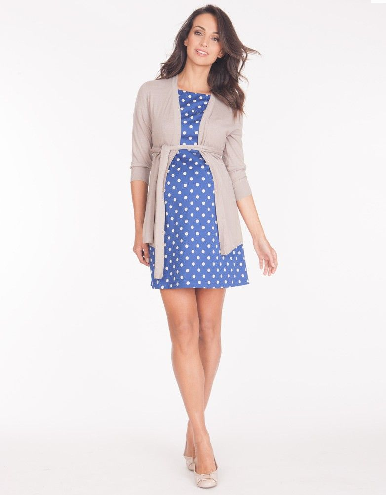 Woven Cotton Polka Dot Maternity Dress | Polka dot maternity ...
