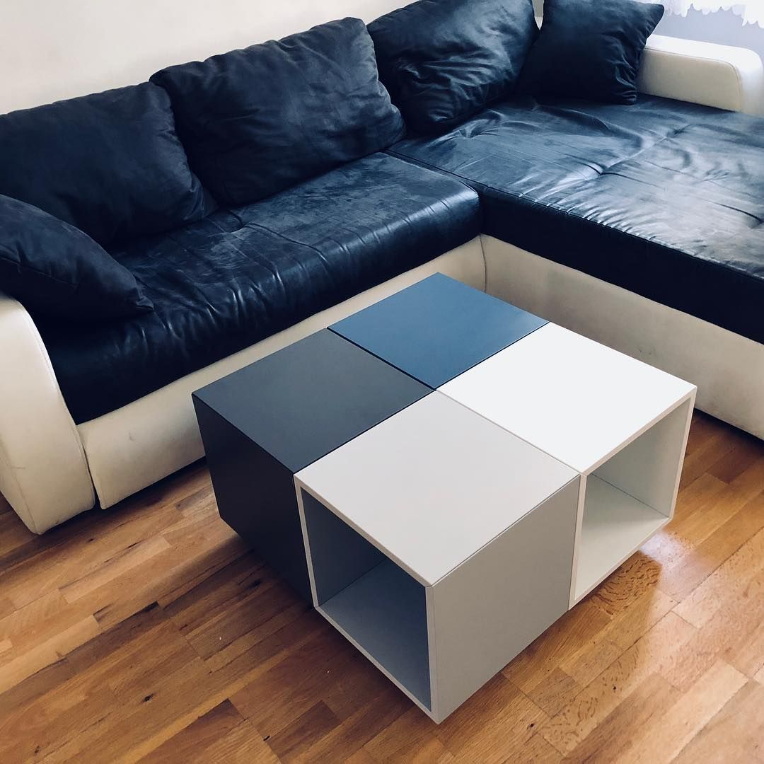 Diy Custommade Coffeetable Made Of Ikea Eket Cabinets Customfurniture Uniqueideas Livingroom Livingroomdecor Selfmade Ikea Eket Eket Ikea Furniture [ 1080 x 1080 Pixel ]