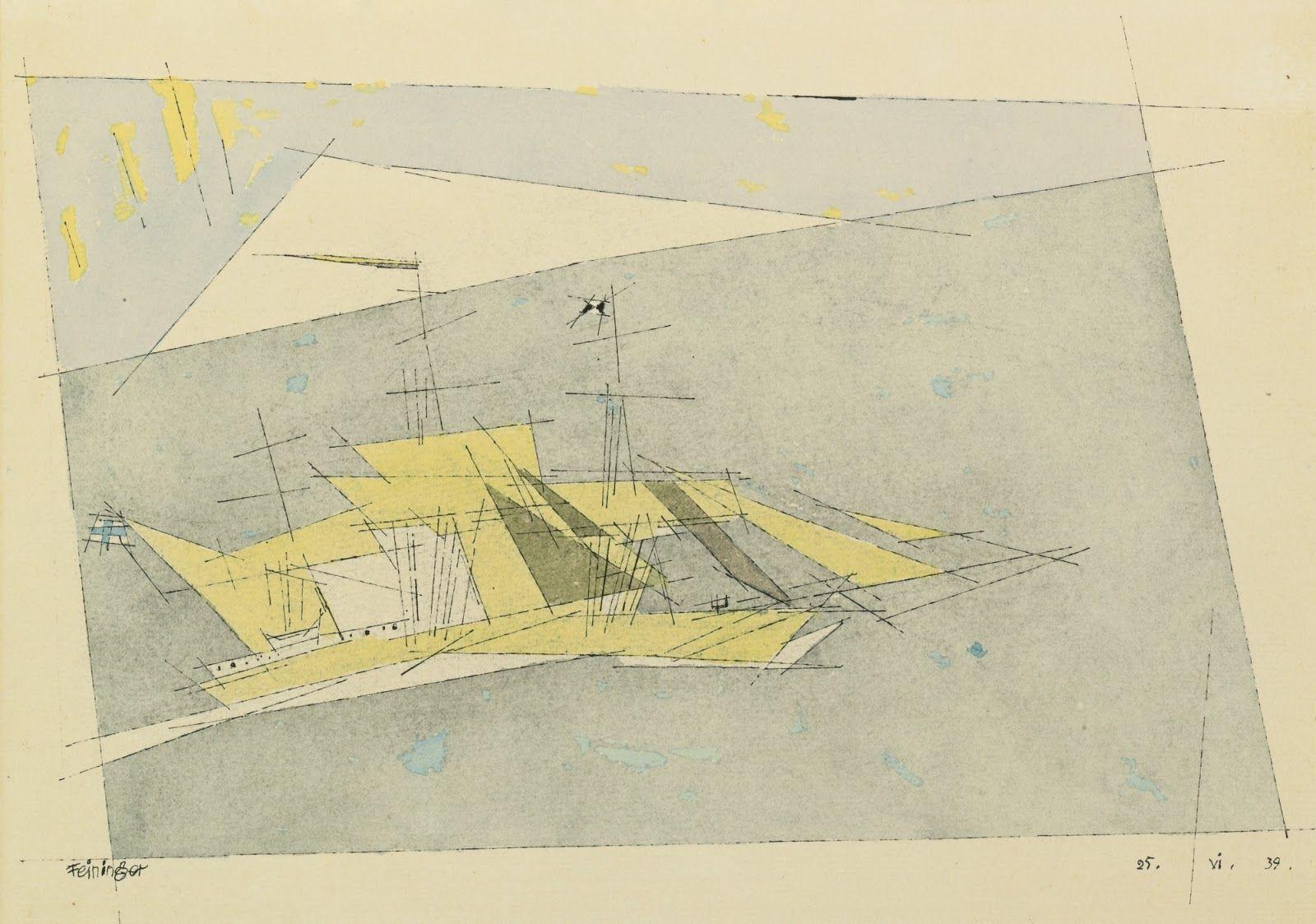 Lyonel Feininger Cubist/Expressionist painter Paysage