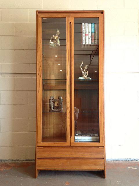 Danish Teak Curio Cabinet