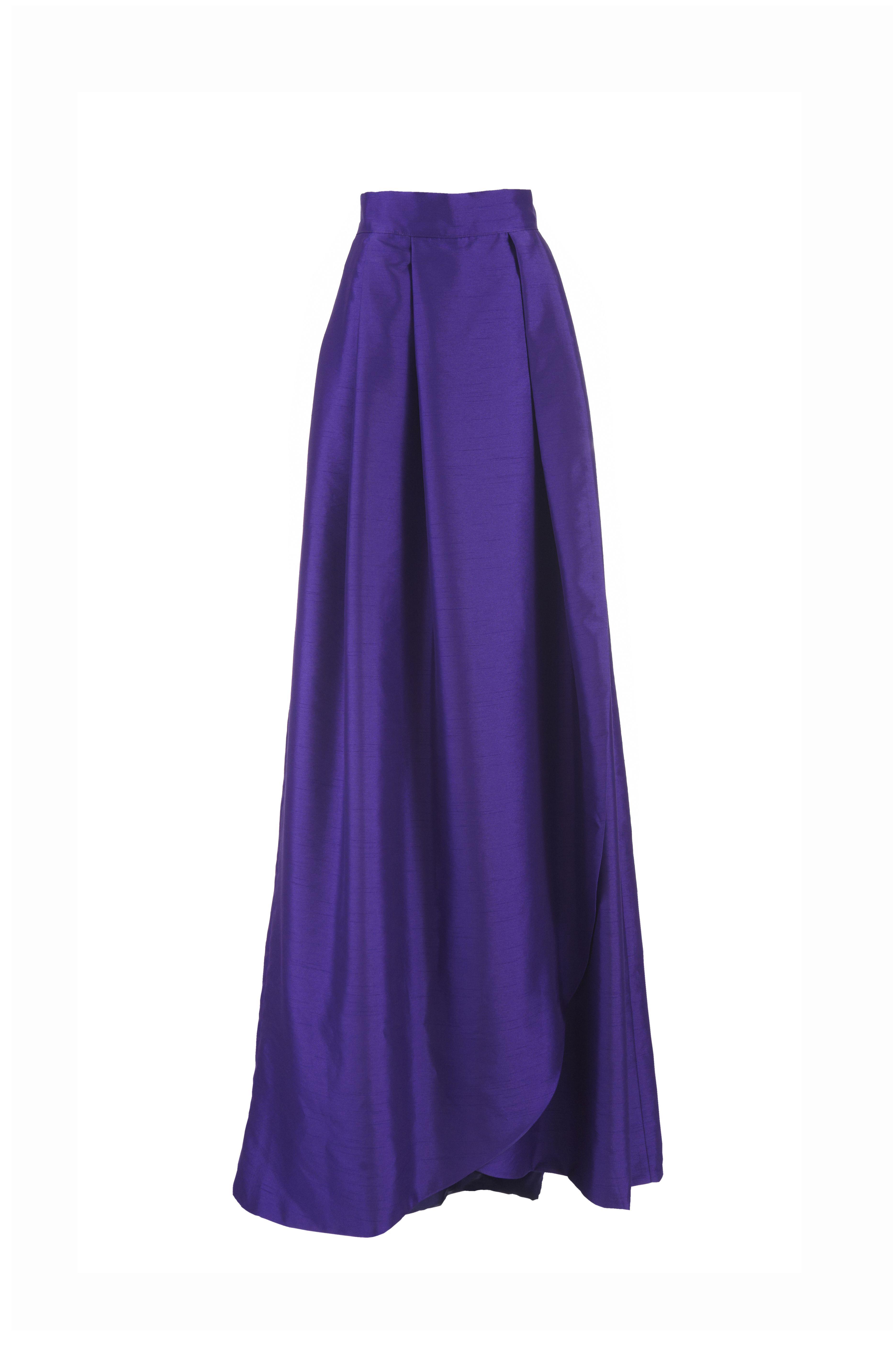 Falda larga Victoria morada Miticca by Isabella Gobarodi  39a7887fceef