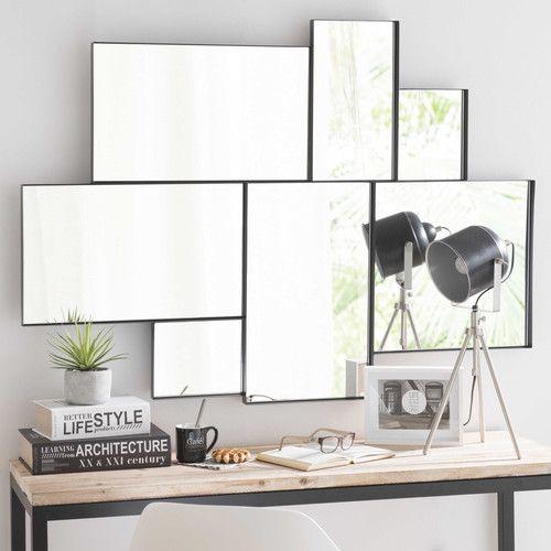 espejo de metal negro 89x123 espejos pinterest spiegel metallrahmen und metall. Black Bedroom Furniture Sets. Home Design Ideas