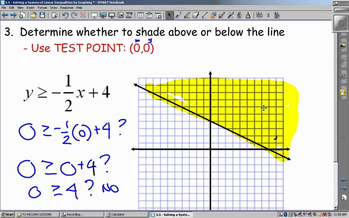 5 5 Lesson Graphing Linear Inequalities Video Lesson Repinned By Chesapeake College Adu Graphing Linear Inequalities Linear Inequalities Graphing