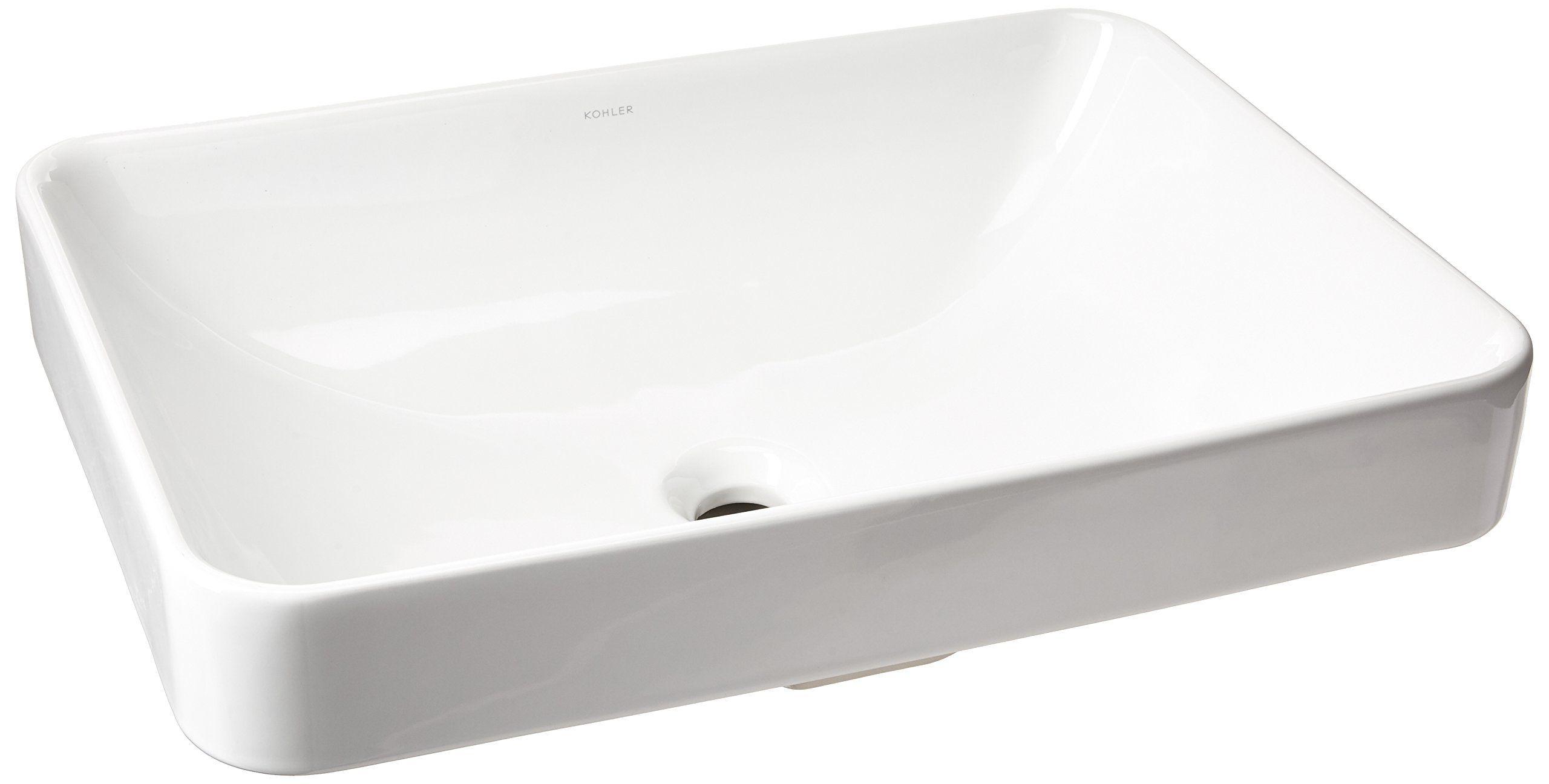 Kohler K53730 Vox Rectangle Vessel Abovecounter Bathroom Sink White Click Image To Review More Details It I In 2020 Above Counter Bathroom Sink Bathroom Sink Sink