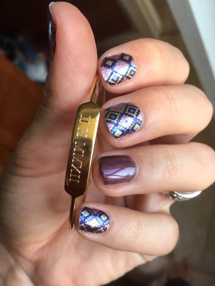 Jamberry. México. Sempasuchitl. Purple. | uñas decoradas | Pinterest ...