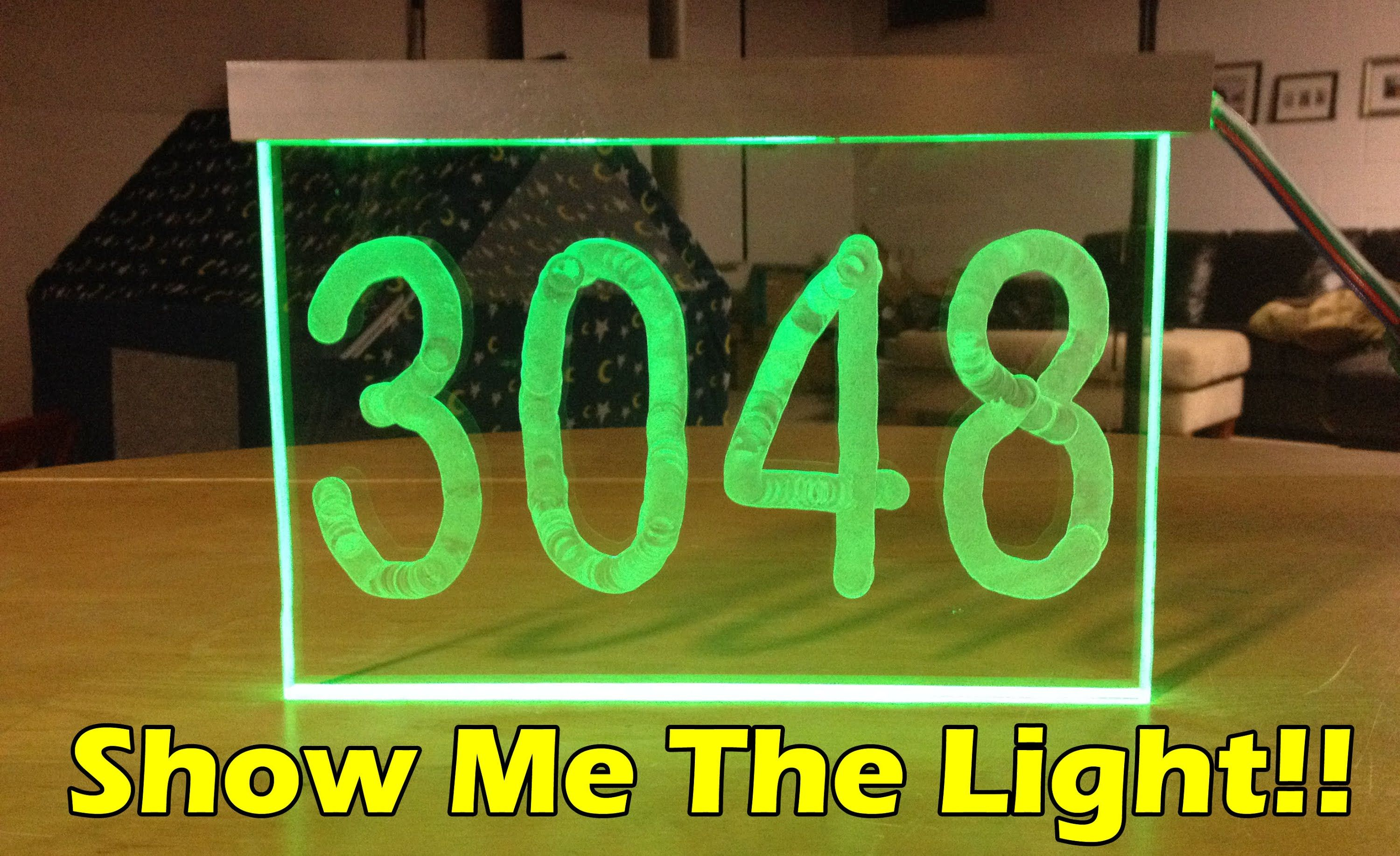 Make Led Light House Number Diy Build Project House Numbers