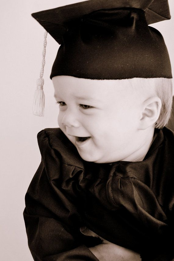 BLACK Baby (Infant) Graduation Cap and Gown (0-3m up to 4T) | Black ...