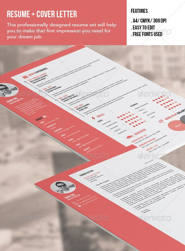Resume and Cover Letter Simple resume, Creative resume templates