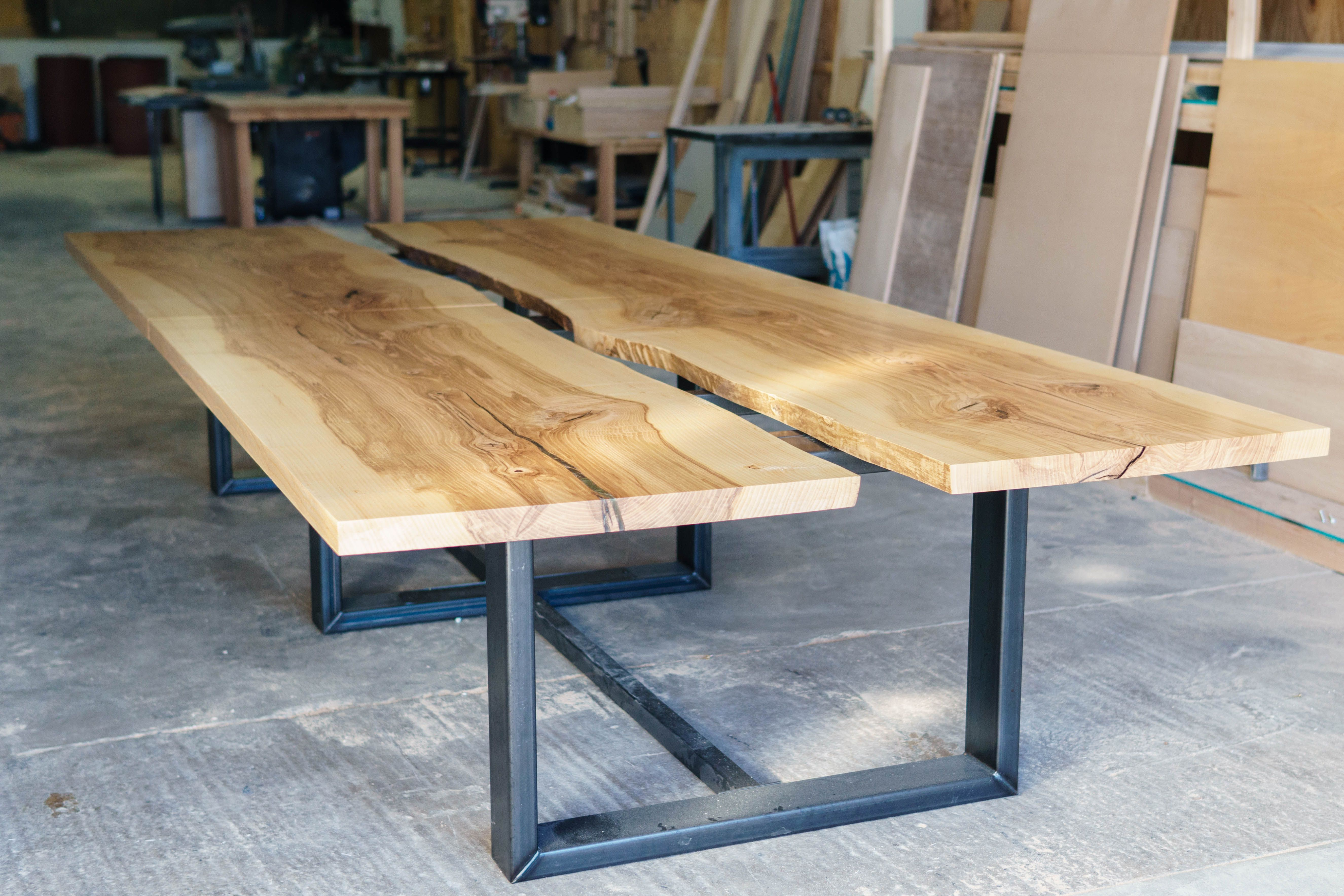 ... Live Edge Conference Table Proudly Made By Greg Pilotti Furniture Makers.  This Table Is Made From Two Bookmatched Ash Slabs Sourced From Pennsylvania.