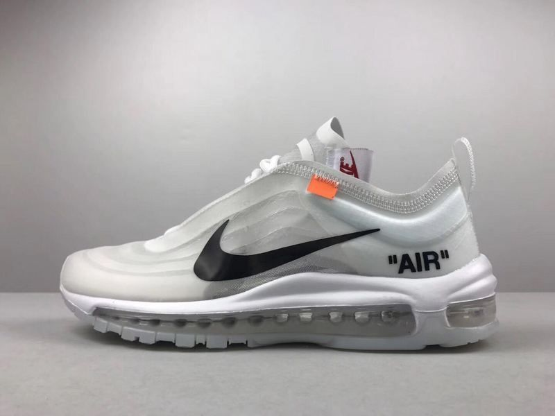 397761a09af98 Size Euro 43 Unisex Off-White x Nike Air Max 97 Grey White Black ...