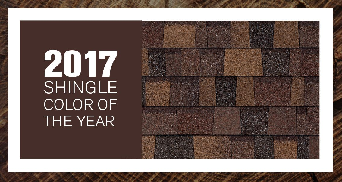 We Are Excited To Name Sedona Canyon Of Our Duration Designer Colors Collection Shingles As The Owens Corning Roofing 2017 Shingle Color Year