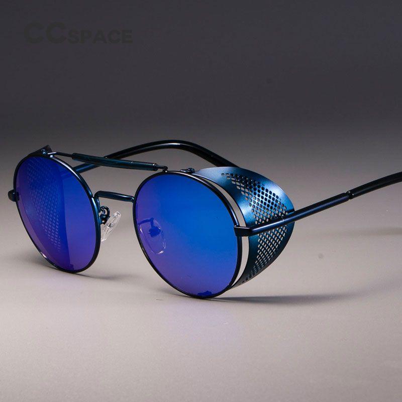 690914dc7b CCSPACE Retro Round Metal Sunglasses Steampunk Men Women Brand Designer  Glasses Oculos De Sol Shades UV Protection-in Sunglasses from Men s Clothing  ...