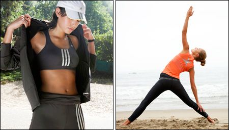 pose + clothes   Fitness models