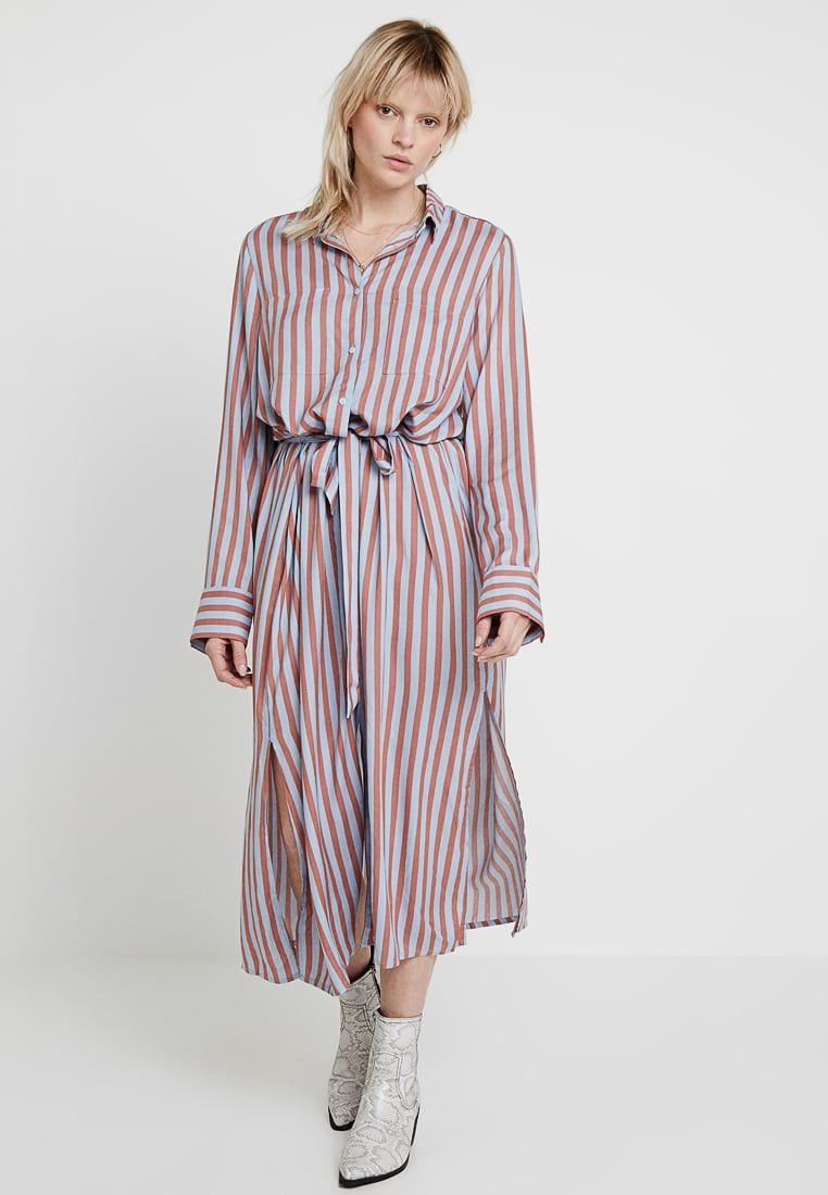 4d949858fc437 Monki LIV DRESS UNIQUE REQUEST - Robe chemise - orange lightblue -  ZALANDO.FR