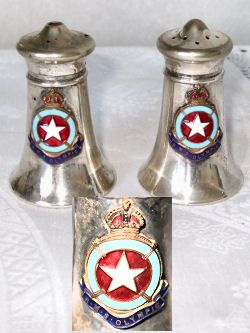 Titanic salt & pepper shakers--All the crockery and cutlery was stamped with the ship line only--not Titanic. This was because the company wanted to be able to use these items amongst all of its liners and individually identifying them with one particular ship would not allow this.
