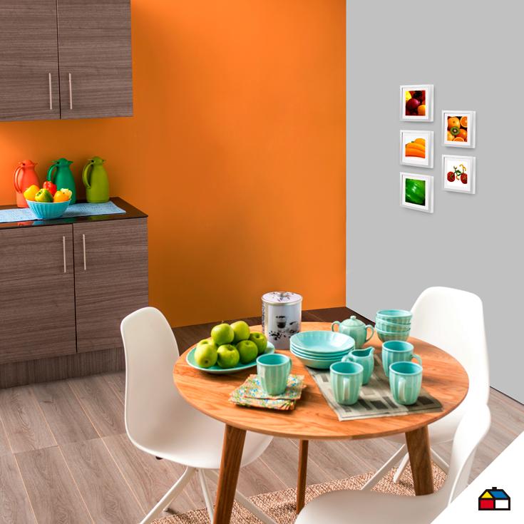 Elige colores intensos para tu comedor y dale m s vida a for Decoracion hogar sodimac