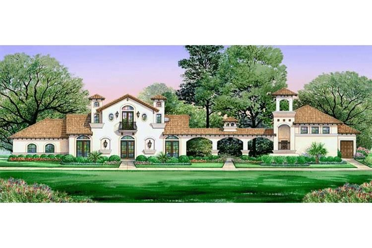 House Plan 5445 00020 Southwest Plan 2 502 Square Feet 4 Bedrooms 3 Bathrooms Spanish Style Homes Courtyard House Plans Luxury House Plans