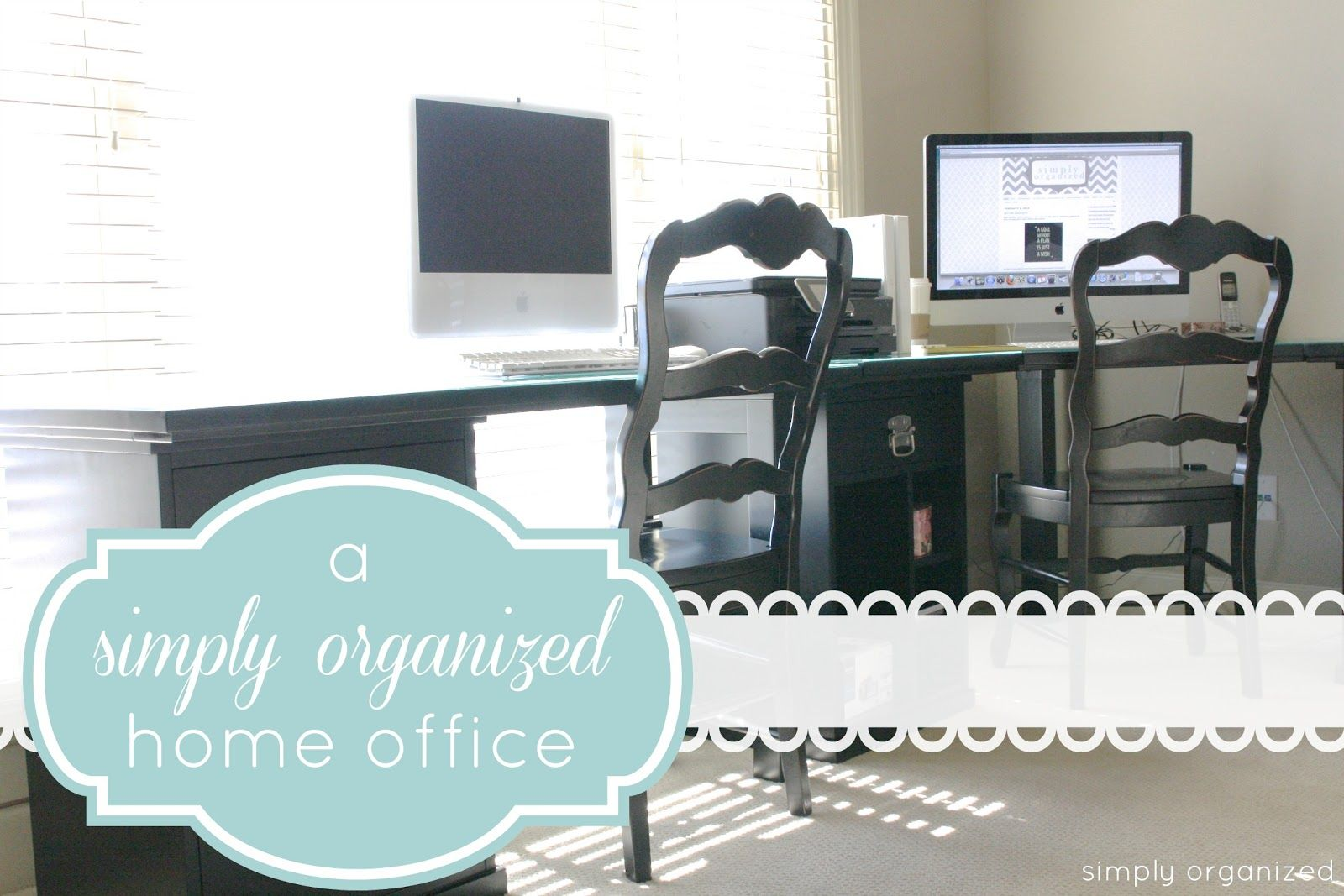 simply organized home office. Simply Organized: A *simply* Organized Home Office H