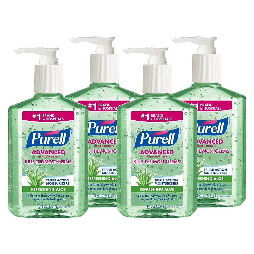 Purell Refreshing Aloe Hand Sanitizer 8 Oz 4 Count Hand