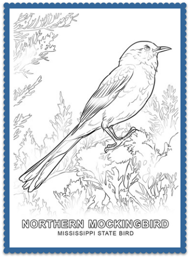 State Bird Coloring Pages By Usa Facts For Kids Bird Coloring Pages Flower Coloring Pages Coloring Pages