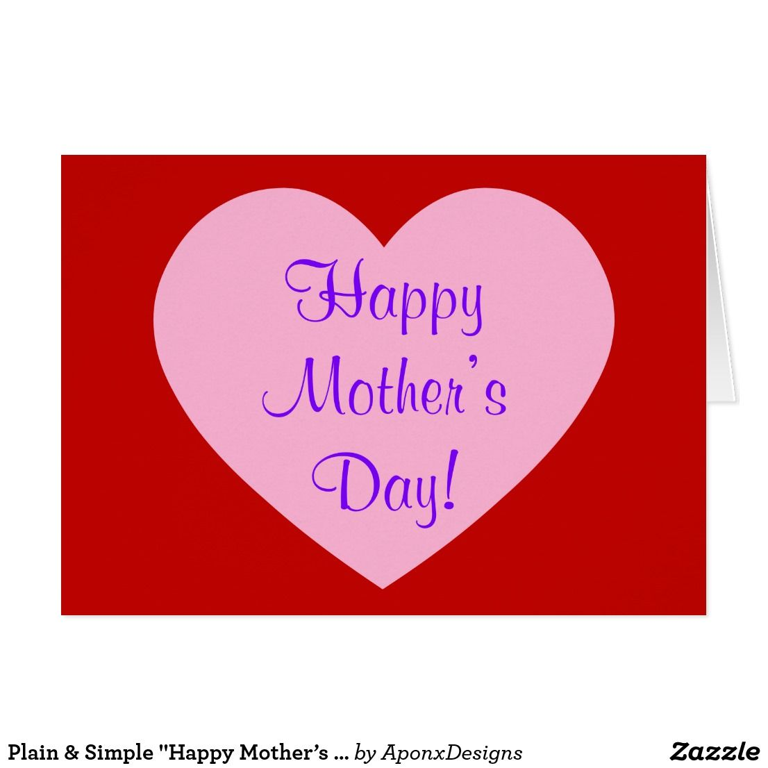 Plain Simple Happy Mothers Day Greeting Card Nice Looking