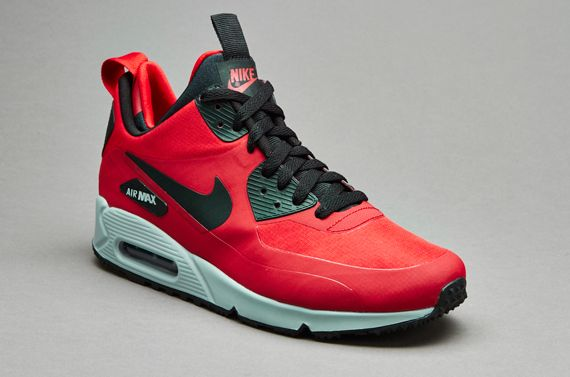 aeb28f8009604a Nike Sportswear Air Max 90 Mid Winter - Gym Red   Black   Wolf Grey ...