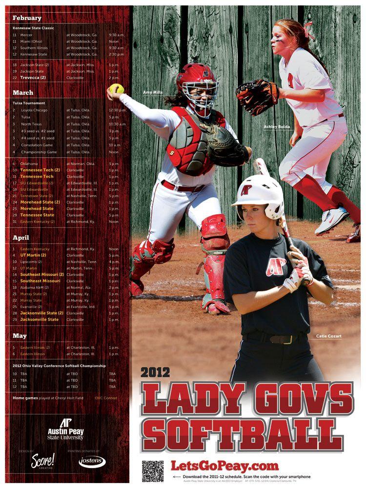 Austin peay softball softball posters