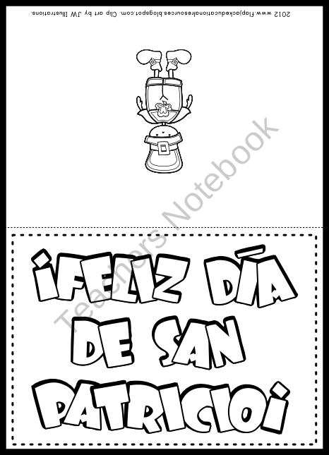 FREE St. Patrick's Day Spanish Greeting Card product from