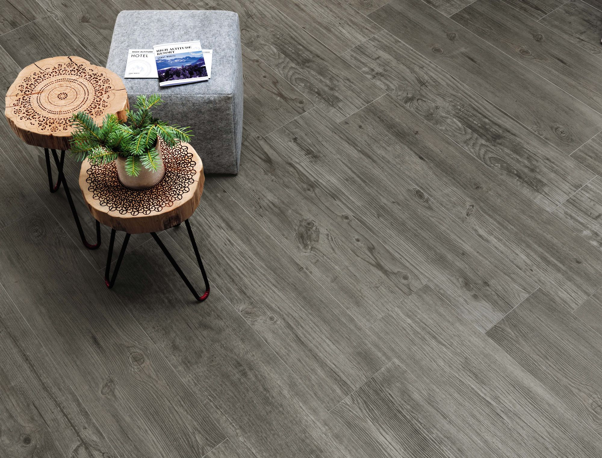 Minoli Axis Floor Tiles Timber Grey 90 X 22 5 Cm The