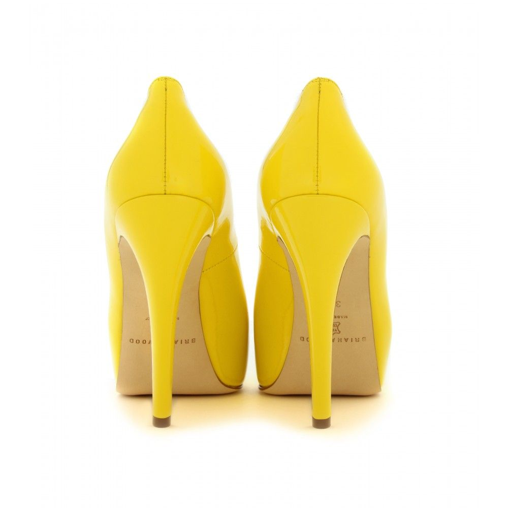 Yellow Leather Heels