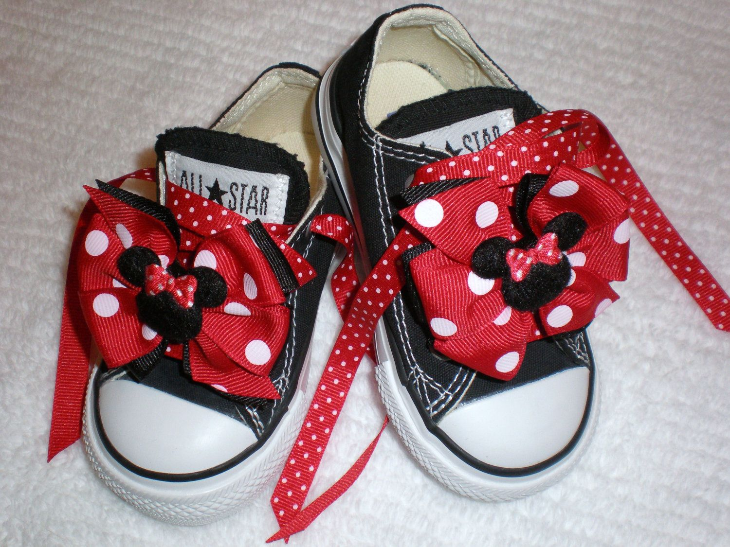 Mini Minnie Mouse Bows and Laces for