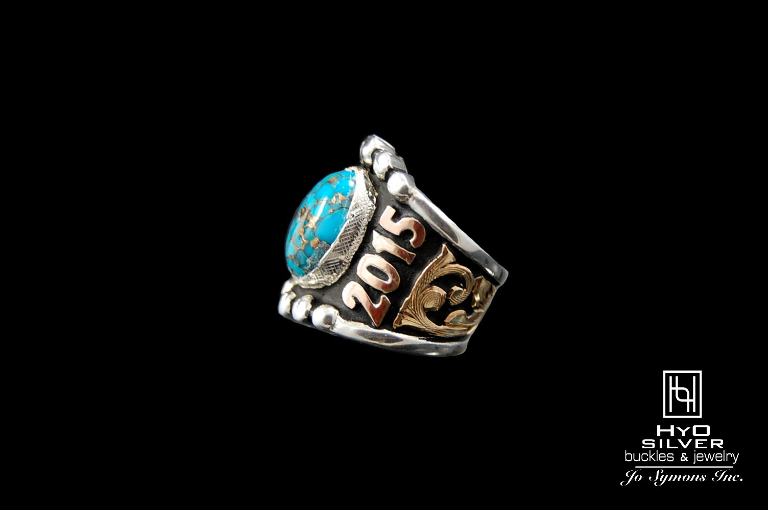 Custom Rimrock Turquoise Ring Hyo Silver Custom Class Rings Sterling Silver Rings Turquoise Statement Rings