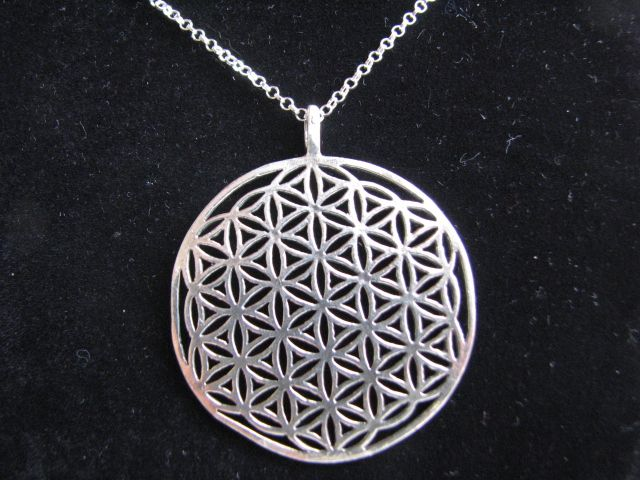 Sterling silver flower of life necklace xl my jewish side ebreo sterling silver flower of life necklace xl aloadofball Choice Image