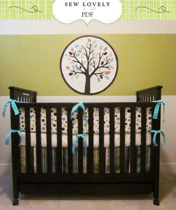 Complete Crib Bedding Set Sewing Pattern Includes 3 Pdf Patterns